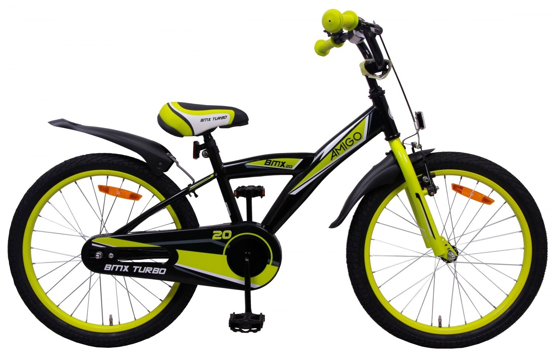 AMIGO BMX Fahrrad / Velo Turbo 20 Zoll 29 cm Rücktrittbremse Schwarz