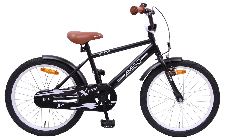 AMIGO BMX Fahrrad / Velo Fun 20 Zoll Jungen Rücktrittbremse Mattschwarz
