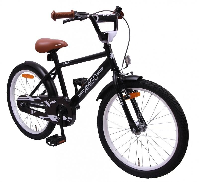 AMIGO BMX Fahrrad / Velo Fun 18 Zoll Rücktrittbremse Mattschwarz