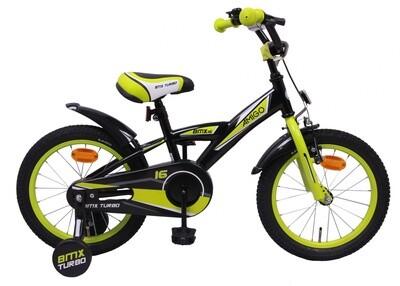 AMIGO BMX Fahrrad / Velo Turbo 16 Zoll Jungen Rücktrittbremse Schwarz