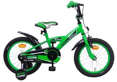 AMIGO BMX Fahrrad / Velo Turbo 16 Zoll Jungen Rücktrittbremse Grün
