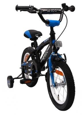 AMIGO BMX Fahrrad / Velo Fun 14 Zoll Rücktrittbremse Schwarz/Blau