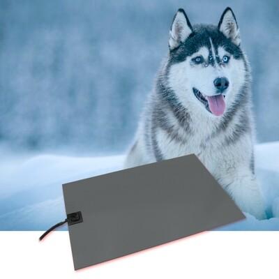 Wärmeplatte Heizmatte für Hunde PVC 230/24V groß 58x81 cm inkl. Trafo, mit Bissschutz