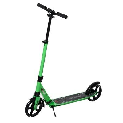 HOMCOM® Kinderroller Scooter Tretroller mit beleuchteten Rädern für 14+ faltbar Grün