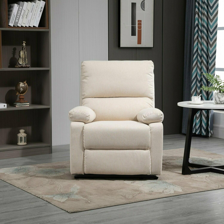 HOMCOM® Relaxsessel Liegesessel TV Sessel Einzelsofa 150° neigbar Fernsehsessel Leinen