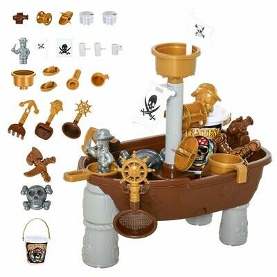 HOMCOM® Kinder Sandspielzeug Sandkastentisch mit 26-tlg. Zubehör Spieltisch 3 Jahren PP