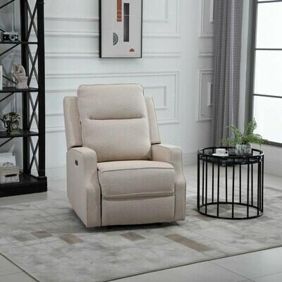 HOMCOM® Relaxsessel Liegesessel TV Sessel Einzelsofa 150° neigbar Leinen-Touch Beige