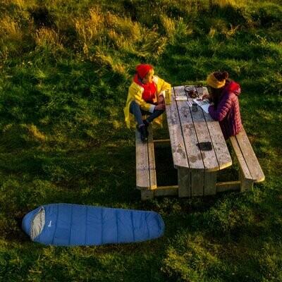 Outsunny® Schlafsack für Camping 3 Saison 15-20 ℃ Deckschlafsack mit Tragetasche 210x75cm