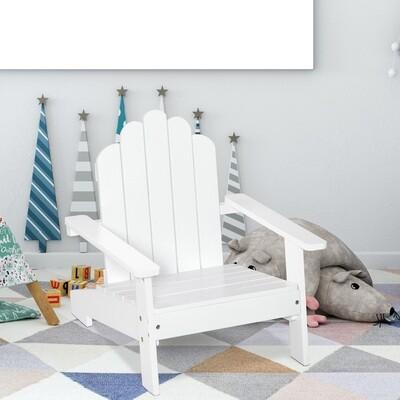 Outsunny® Adirondack-Gartenstuhl Kinder Gartenliege Balkonstuhl aus Holz Weiss
