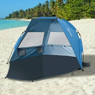 Outsunny® Pop up Zelt für 1-2 Personen Campingzelt mit Fenster Polyester Glasfaser Blau