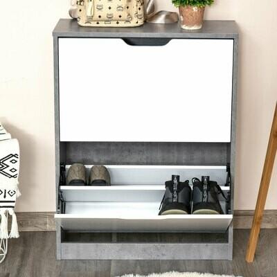 HOMCOM® Schuhschrank Schuhregal Schuhbank mit 2 Kippschubladen