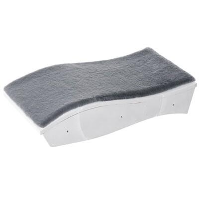 PawHut® Katzenbett Katzenliege Katzen Wandliege Wandmontage Plüsch MDF Grau+Weiss