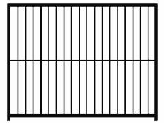 Restposten: Hundezwinger Rohrstabelement Preisstar, 1,84 x 2,0 m   Rohrabstand 8 cm