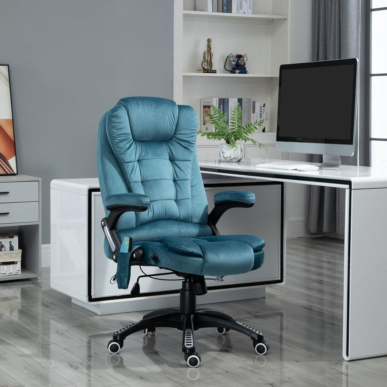 Vinsetto® Massagesessel Chefsessel Gamingstuhl Drehstuhl Massagebürostuhl Blau