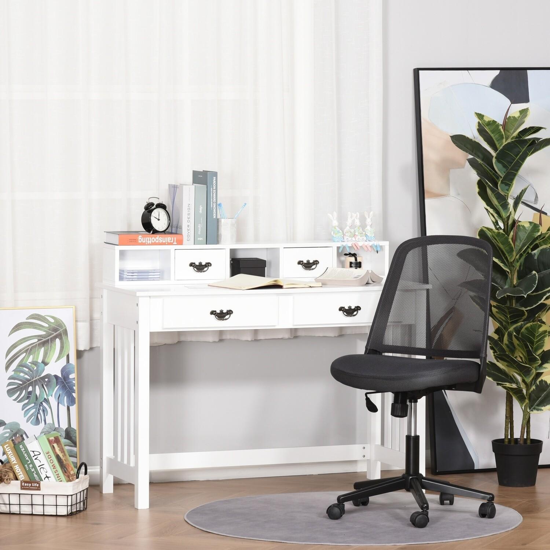 HOMCOM® Schreibtisch mit abnehmbarem Regal geräumige Gestaltung für Home Office