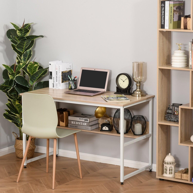 HOMCOM Schreibtisch für Arbeitszimmer Computertisch Bürotisch Heimbüro modernes Design