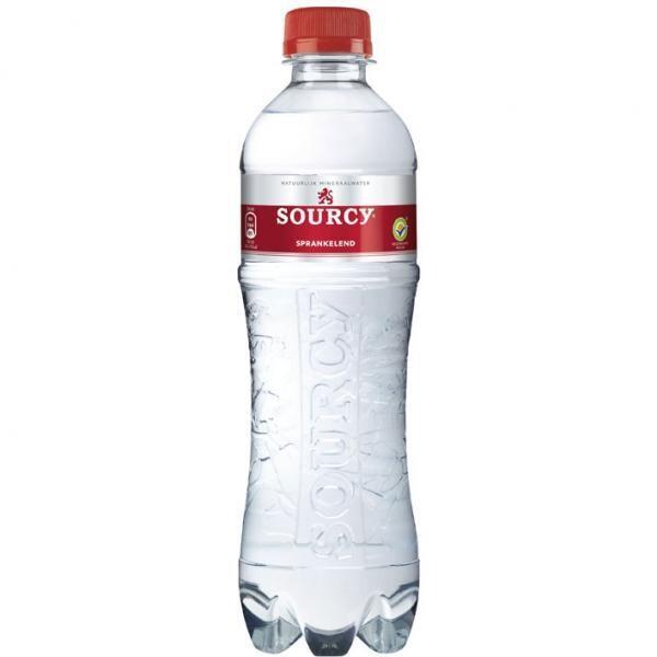 Sourcy Rot Sprudelwasser (STG 24 x 0,5 Liter PET Flaschen) = 12 Liter