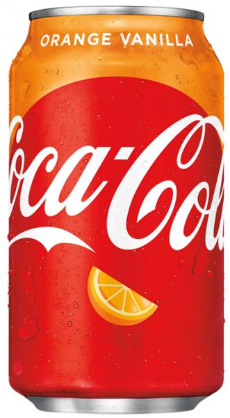 Coca Cola USA Orange Vanilla (12 x 0,355 Liter Dosen) = 4,26 Liter