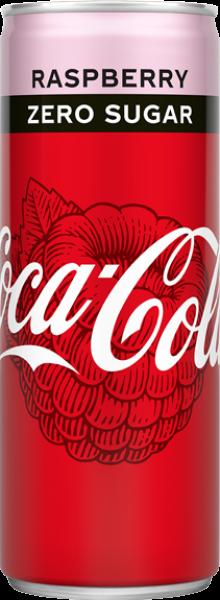 Coca Cola Zero Sugar Raspberry (12 x 0,25 Liter Dosen NL) = 3 Liter