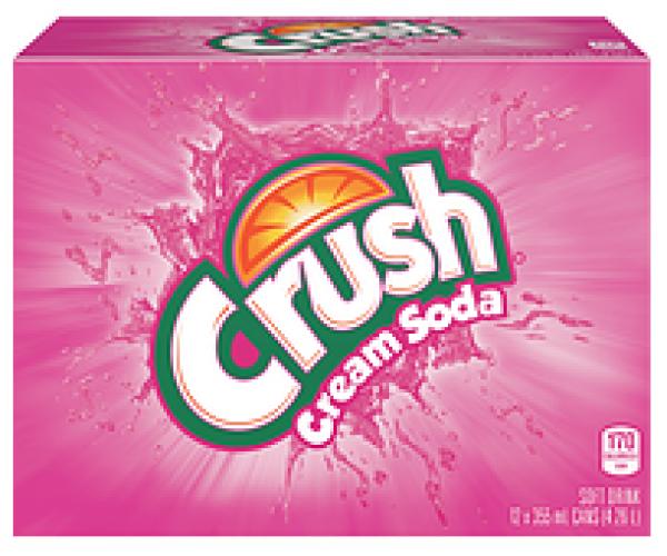 Crush Cream Soda (12 x 0,355 Liter Dosen) = 4,26 Liter