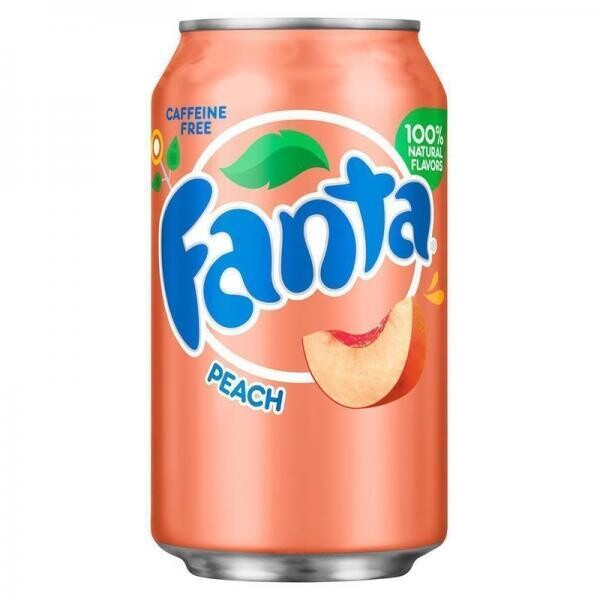 Fanta USA Peach (12 x 0,355 Liter Dosen)= 4,26 Liter