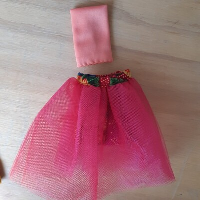 Dual Tutu Skirt & Crop Top