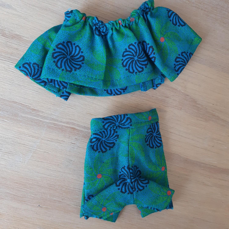 Turqoise Shorts & Top