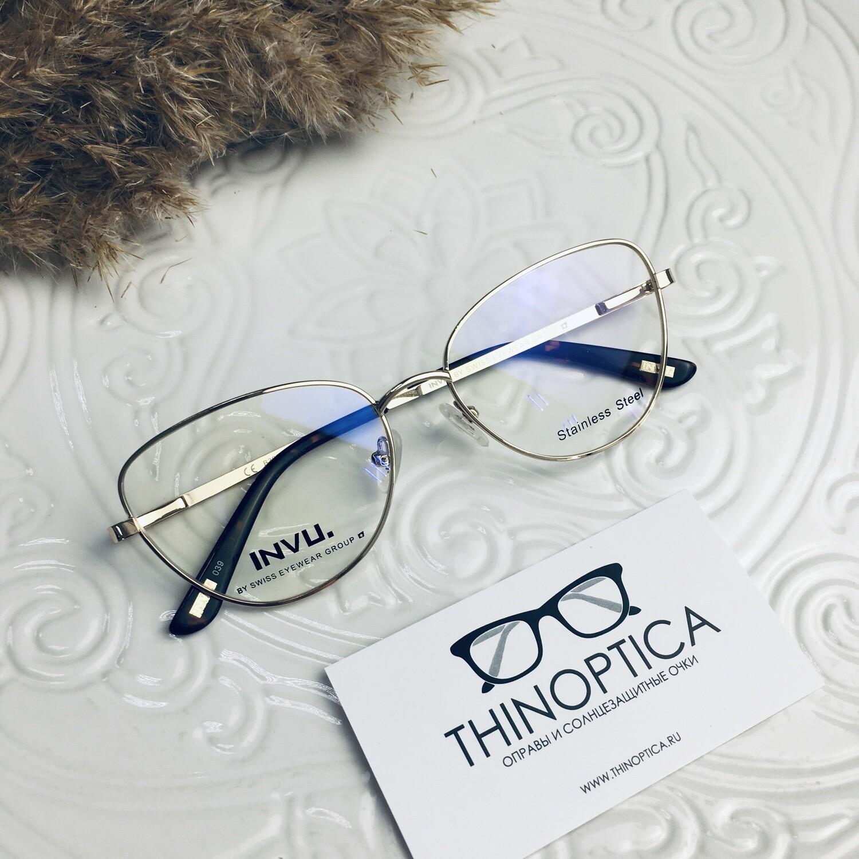 Оправа для очков с солнцезащитным клипоном INVU B 3904