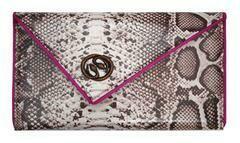 Kent Stetson Rose Gold Snakeskin Clutch