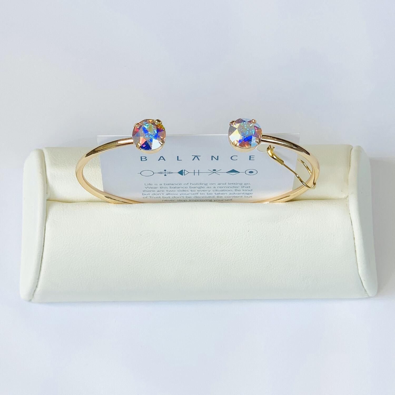 Balance Bracelet Gold/Crystal Aurora