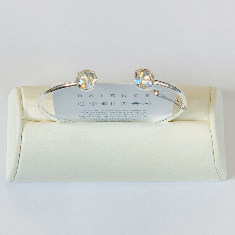 Balance Bracelet Silver/Crystal Moonlight