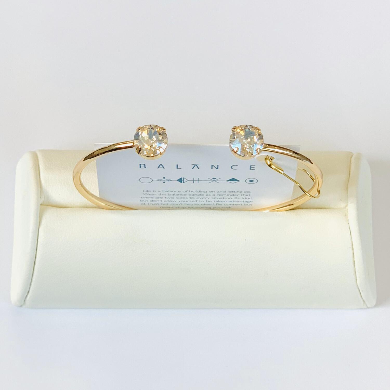 Balance Bracelet Gold/Crystal Moonlight