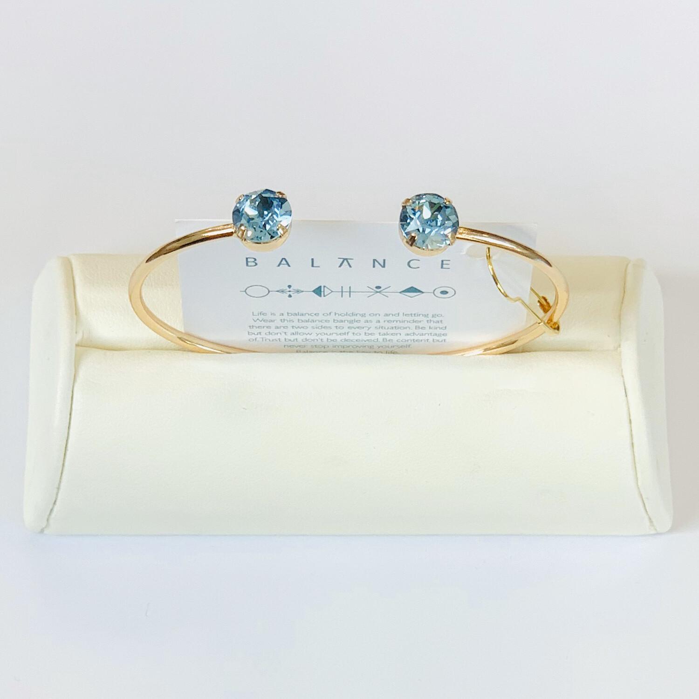 Balance Bracelet Gold/Aquamarine