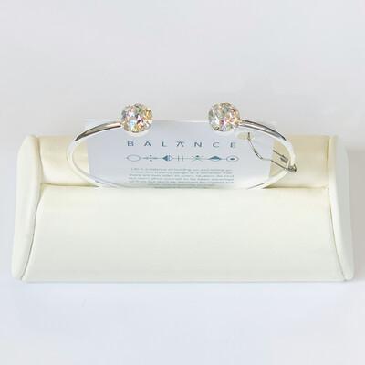 Balance Bracelet Silver/Crystal Patina