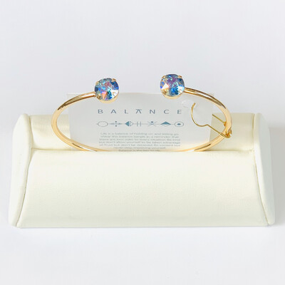 Balance Bracelet Gold/Aqua Transmission
