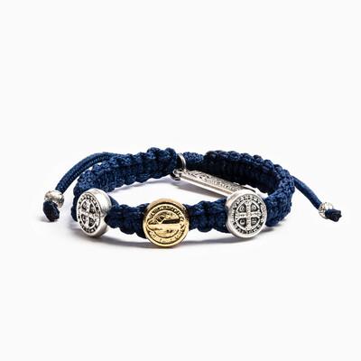MSMH Blessing for Kids Benedictine Blessing Bracelet (Navy)