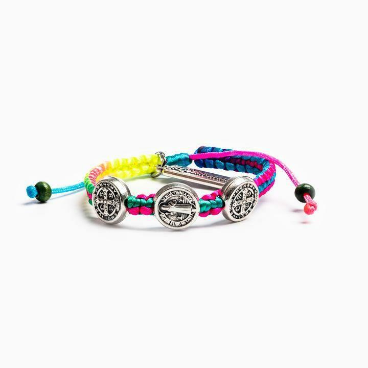 MSMH Blessing for Kids Benedictine Blessing Bracelet (Rainbow)