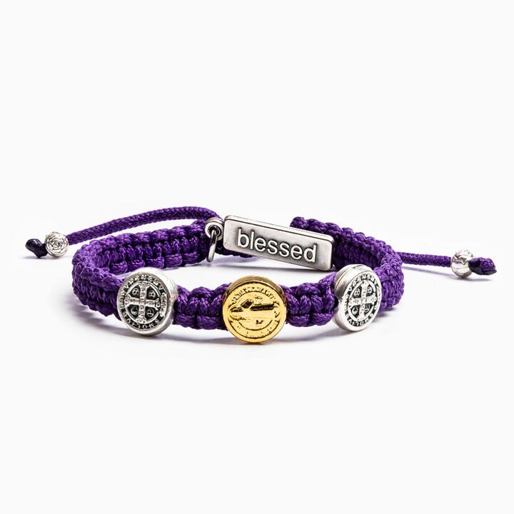 MSMH Blessing for Kids Benedictine Blessing Bracelet (Purple)