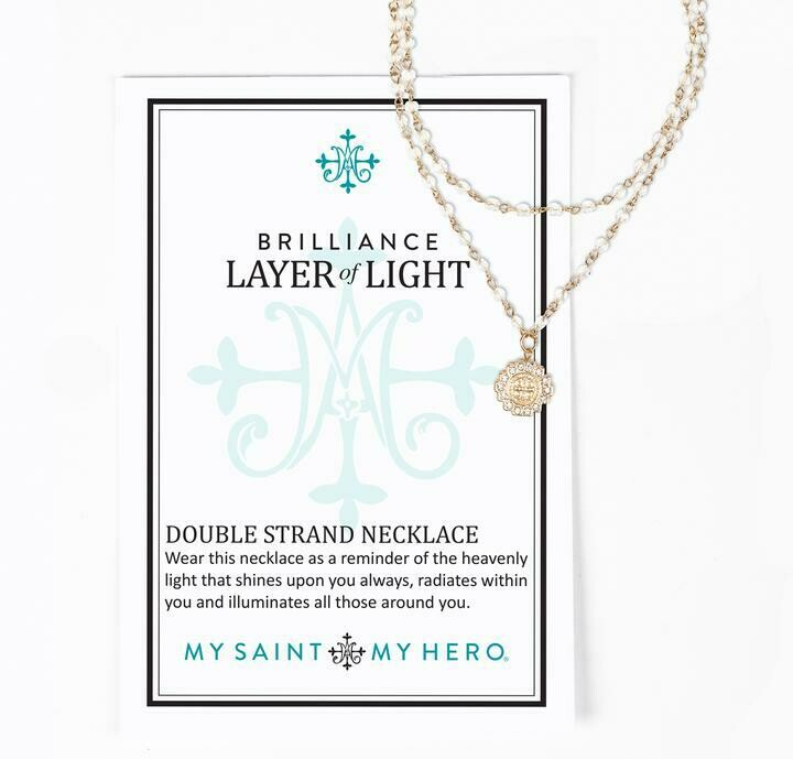 MSMH Brilliance Layer of Light Necklace (Gold)