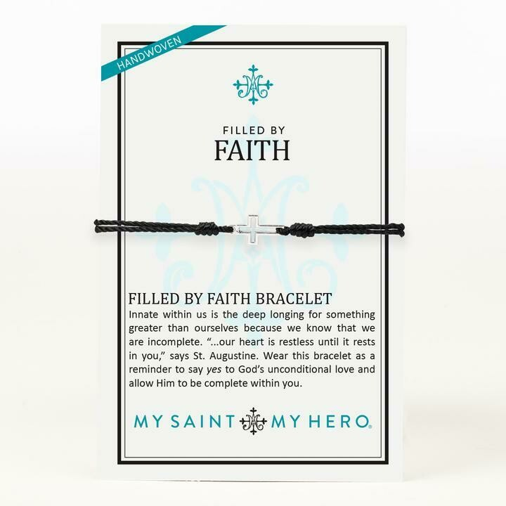 MSMH Filled By Faith Bracelet (Silver/Black)