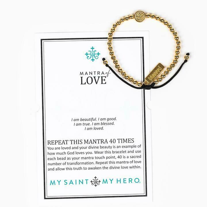 MSMH Mantra of Love Bracelet (Gold)