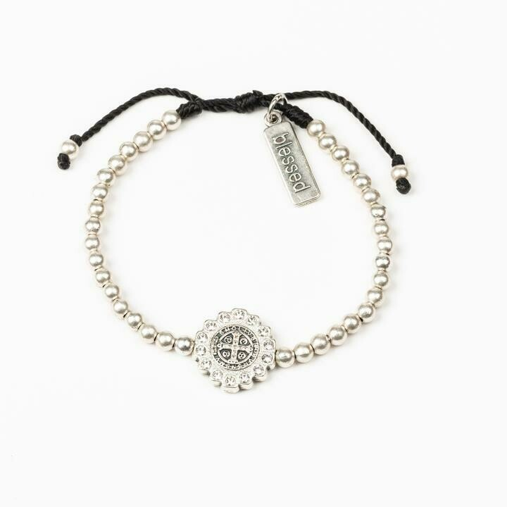 MSMH Mantra of Beauty & Brilliance Bracelet (Silver)