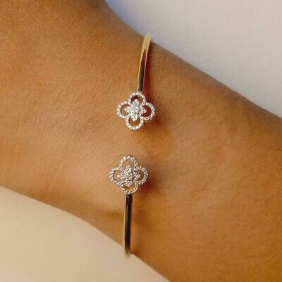 Ella Stein Wildflower Flexi Bangle (Gold)
