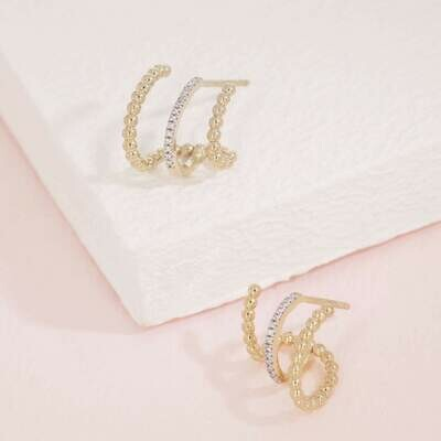 Ella Stein Chart Your Course Earrings (Gold)
