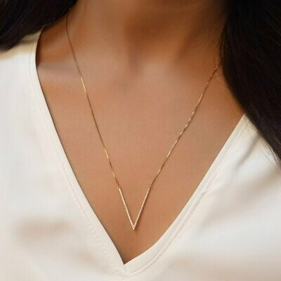 Ella Stein V to the T Necklace (Gold)
