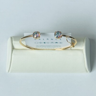 Balance Bracelet Gold/Crystal Patina