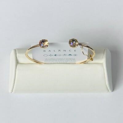 Balance Bracelet Gold/Crushed Golden Crystal