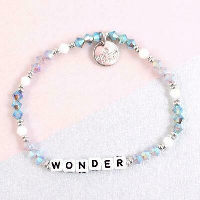 Little Words Project White WONDER Bracelet