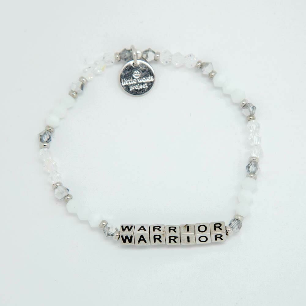 Little Words Project Silver WARRIOR Bracelet