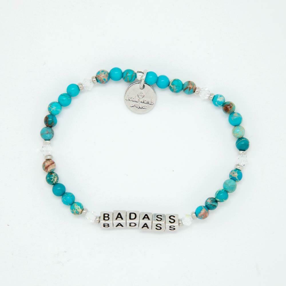 Little Words Project Silver BADASS Bracelet